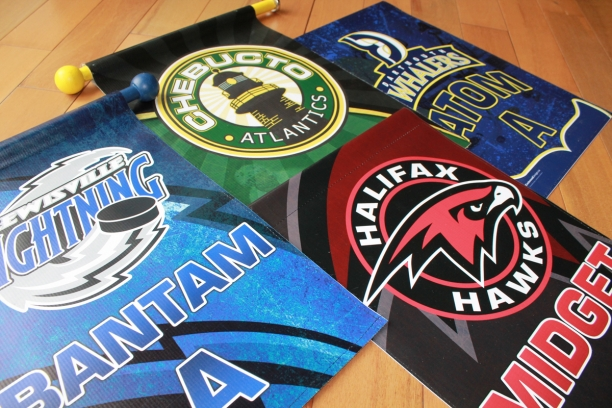 Hockey Banners Dressing Room Door Flagshalifax Ns Eastwood Design